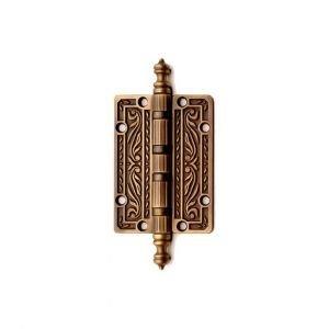 Cerniera piccola in ottone graffiato antico Queen Classique