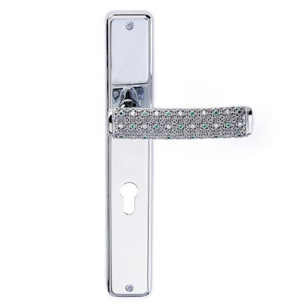 Maniglia su placca in argento e cristalli Dream 2 Jewellery