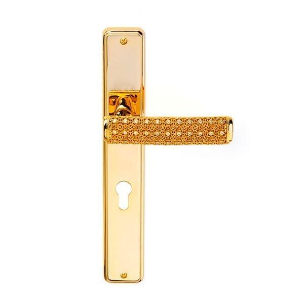 Maniglia su placca in oro 24kt e cristalli Dream 2 Jewellery
