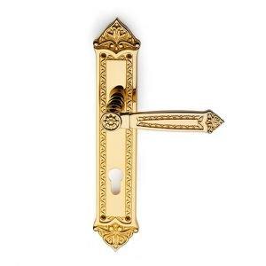 Maniglia su placca in oro 24kt Sultan Classique