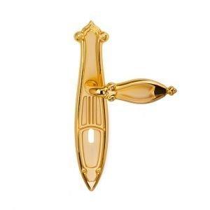 Maniglia su placca in oro sabbiato Cleopatra Classique