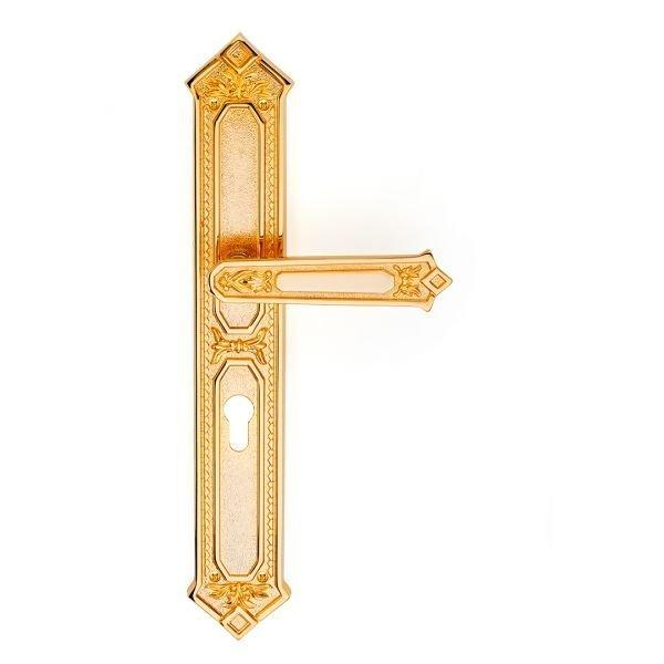 Maniglia su placca in oro 24kt King Classique