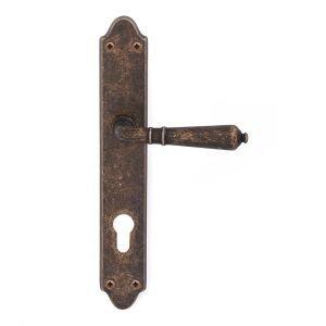 Maniglia su placca in ottone anticato scuro Mod. 800 Classique