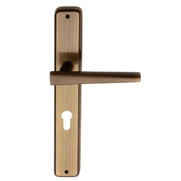 Handle on plate yester bronze brass portofino i-design