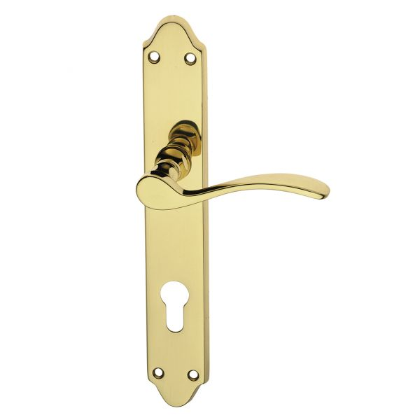 Handle on plate polish brass anna easy