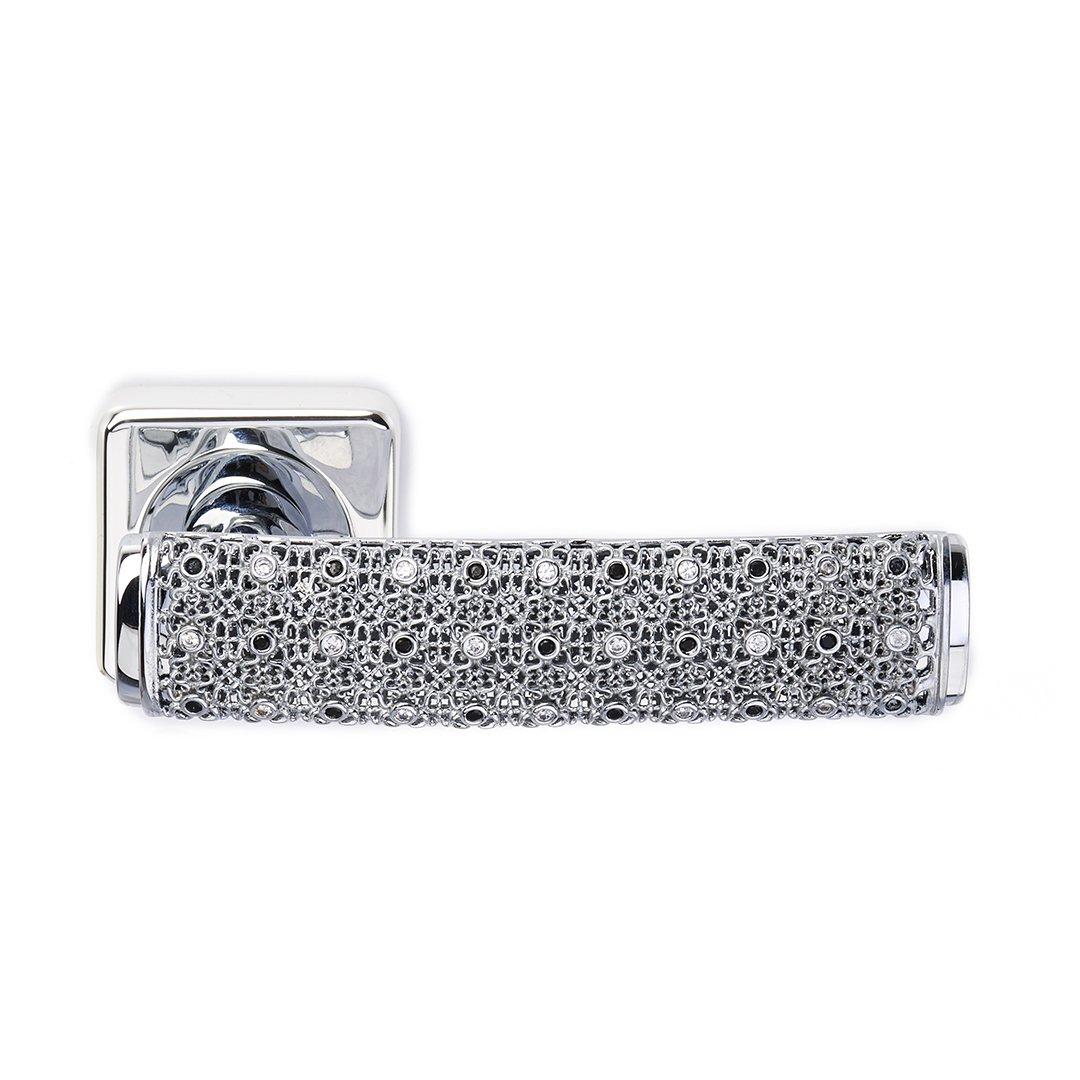 Maniglia su rosetta in argento e cristalli Dream 2 Diamonds Jewellery