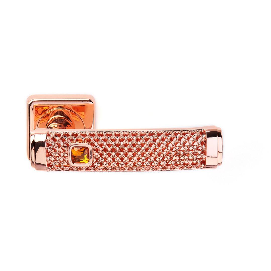 Maniglia su rosetta in oro rosa e ambra Dream Jewellery