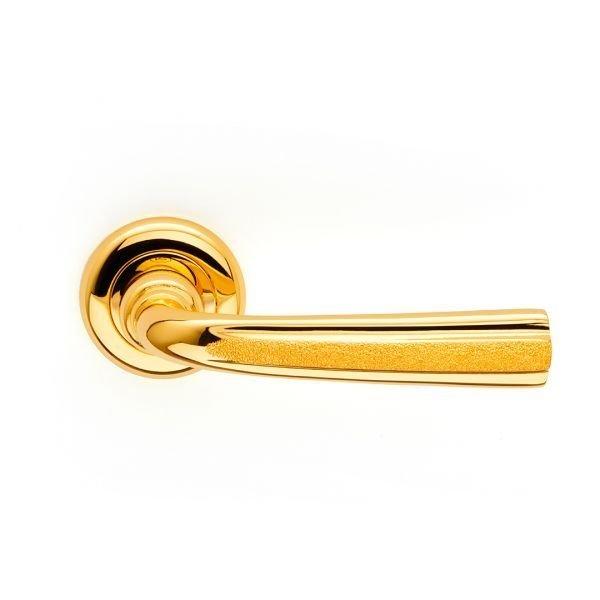 Maniglia su rosetta tonda in oro pavè Corolla Jewellery