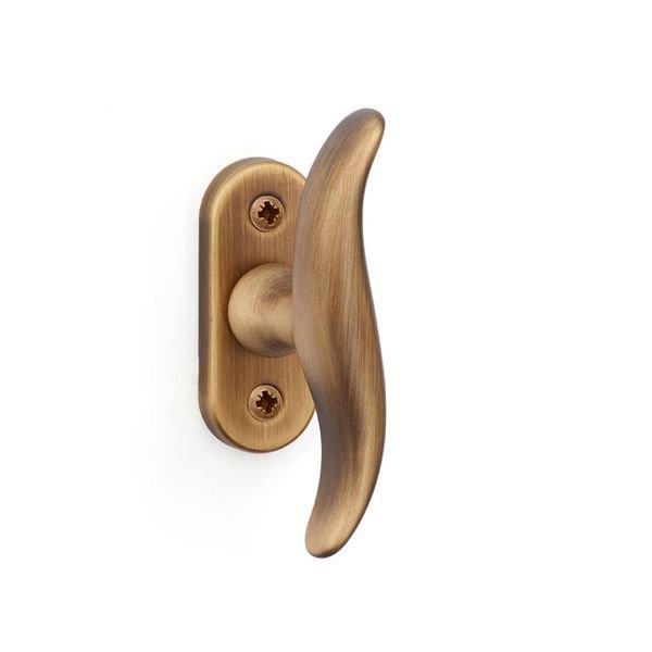 Window handle in yester bronze brass Calypso Fashion