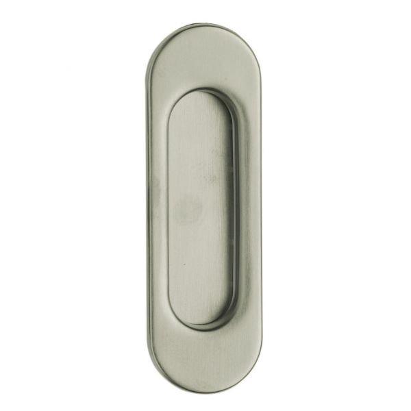 Flush handle satin chrome