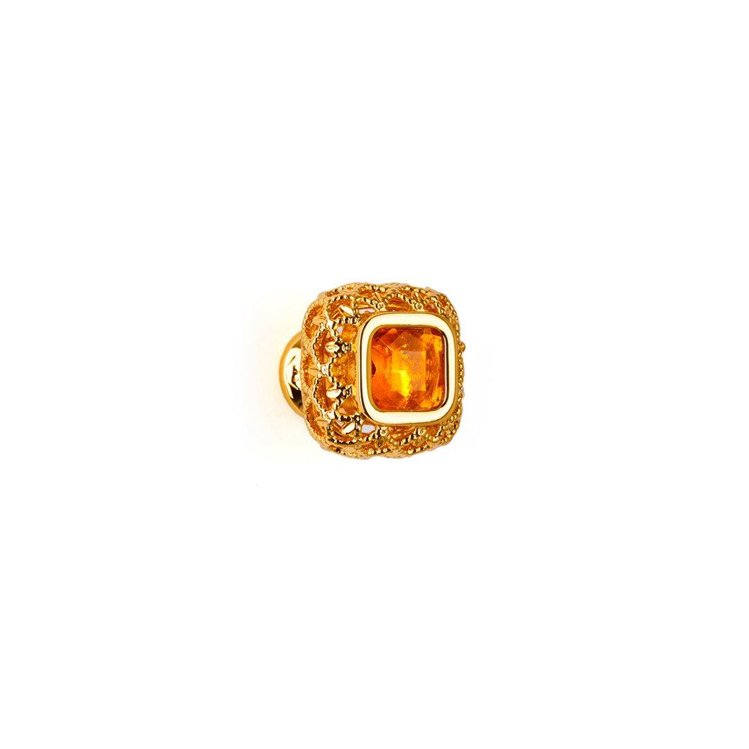 Pomolo in oro 24kt e ambra Dream Jewellery