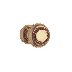 Knob on rose antique french brass princess classique