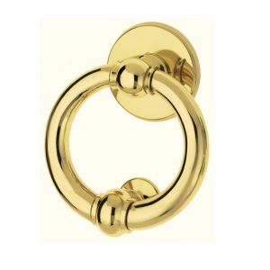 Knocker polished brass Luna